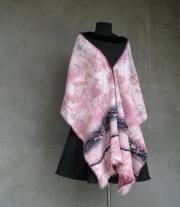 Валяный палантин, шарф