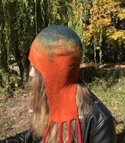 Шапка-ушанка  валяная женская шерстяная