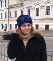 Шапка валяная женская шерстяная мастера Каплун Елена Георгиевна