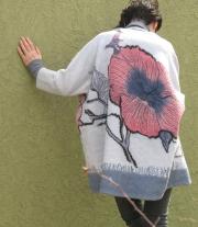 Валяное пальто оверсайз ′Там где живет весна...′