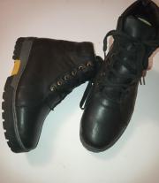 ботинки теплющие кожа и войлок