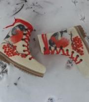 валенки женские Снегири прилетели
