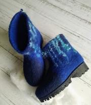 Валенки синие