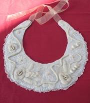 Эко ожерелье, воротничок ′Белая жемчужина′