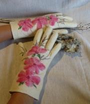 Перчатки валяные Сакура