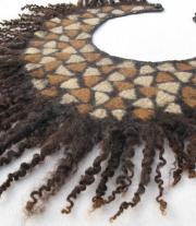 Валяный воротничок ′Мозаика′