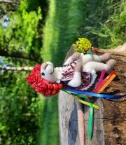 Валяная игрушка Мышка Украинка , Мышь Гуцулка.