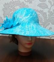 Летняя шляпка цвета Тиффани