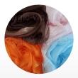 шарфы шелковые окрашенные однотонные и с переходами