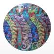 шифоновый шарф с рисунком 167см*50см