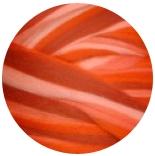 бленд из шерсти мериноса 21мкм Северные огни морковный сок
