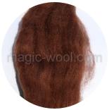 гребенная лента (топс) натуральных и цветных оттенков Бурый