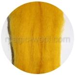 гребенная лента (топс) натуральных и цветных оттенков Канарейка