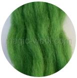 гребенная лента (топс) натуральных и цветных оттенков Зеленая трава