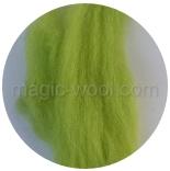 гребенная лента (топс) натуральных и цветных оттенков Зеленое яблоко