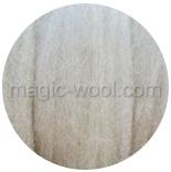 гребенная лента (топс) натуральных и цветных оттенков мериносовый натуральный 26мкм
