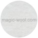префельт 17 мкм ширина 140 см шерсть 100% белый