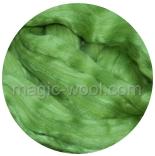 бленд шерсть меринос 18 мкм 70% с шелком маulbeer +шелк 30% салатный