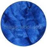 бленд шерсть меринос 18 мкм 70% с шелком маulbeer +шелк 30% синий