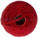 Шерстяной шнур красный