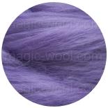 бленд(микс) в тон шерсти 18 мкм 70%мериноса + 30%шелк tussah фиолет