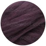 бленд(микс) в тон шерсти 18 мкм 70%мериноса + 30%шелк tussah пурпур