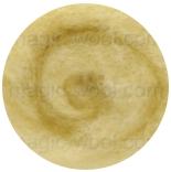 новозеландская кардочесанная шерсть (Латвия) 27мкм пастельно желтый К2004