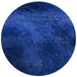 новозеландская кардочесанная шерсть (Латвия) 27мкм темно синий К6002