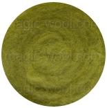 новозеландская кардочесанная шерсть (Латвия) 27мкм оливковый К5015