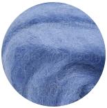 новозеландская кардочесанная шерсть (Латвия) 27мкм темно голубой К6004