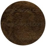 новозеландская кардочесанная шерсть (Латвия) 27мкм коричневый К2014