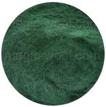 новозеландская кардочесанная шерсть (Латвия) 27мкм бутылочно зеленый К5007