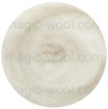 новозеландская кардочесанная шерсть (Латвия) 27мкм натурально белый K1001