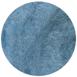 новозеландская кардочесанная шерсть (Латвия) 27мкм туманно голубой К6013