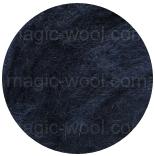 новозеландская кардочесанная шерсть (Латвия) 27мкм черно синий К6001