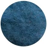 новозеландская кардочесанная шерсть (Латвия) 27мкм темно синяя бирюза К6011