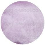 новозеландская кардочесанная шерсть (Латвия) 27мкм светло фиолетовый К4018