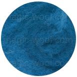 новозеландская кардочесанная шерсть (Латвия) 27мкм синева К6012