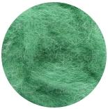 новозеландская кардочесанная шерсть (Латвия) 27мкм зеленый К5024
