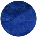 новозеландская кардочесанная шерсть (Латвия) 27мкм королевский синий К6005