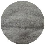новозеландская кардочесанная шерсть (Латвия) 27мкм серый К1011