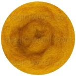 новозеландская кардочесанная шерсть (Латвия) 27мкм темно желтый К2002