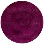 новозеландская кардочесанная шерсть (Латвия) 27мкм ярко лиловый К4009
