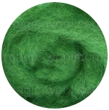 новозеландская кардочесанная шерсть (Латвия) 27мкм лесная зелень К5006