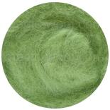 новозеландская кардочесанная шерсть (Латвия) 27мкм яркий салат К5017