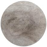 новозеландская кардочесанная шерсть (Латвия) 27мкм светлый меланж серо коричневый К1114