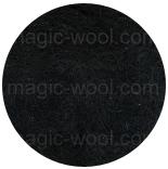 новозеландская кардочесанная шерсть (Латвия) 27мкм черный К1008