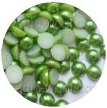 бусины половинками зеленый 8мм