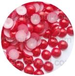 бусины половинками красные 8мм
