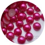 бусины половинками насыщенно розовый 8мм